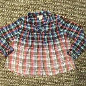american eagle ombré flannel blouse